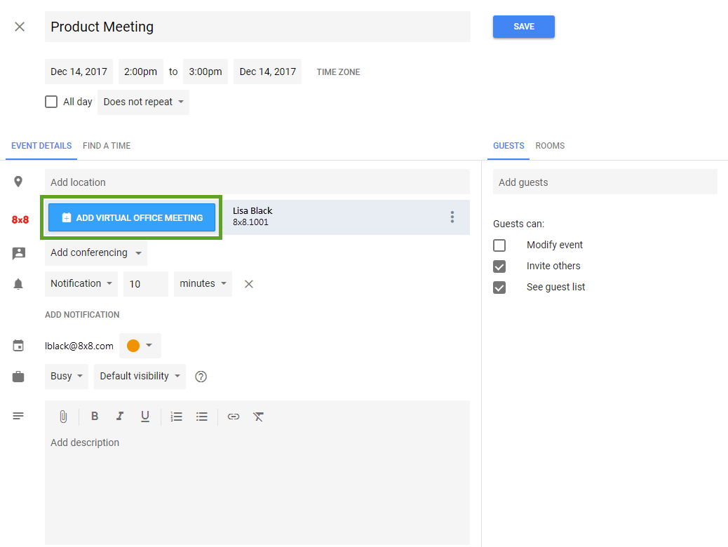 Meeting Event Interface